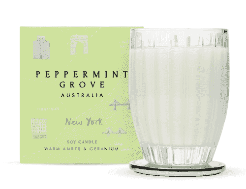 Peppermint Grove New York - Warm Amber & Geranium Candle 350g