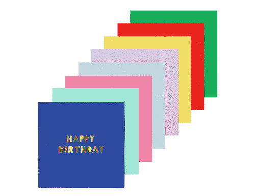 Happy Birthday Napkins - Large