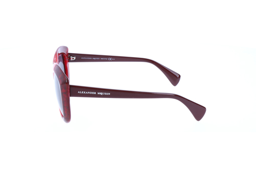 Alexander McQueen Womens Sunglasses Burgundy Red