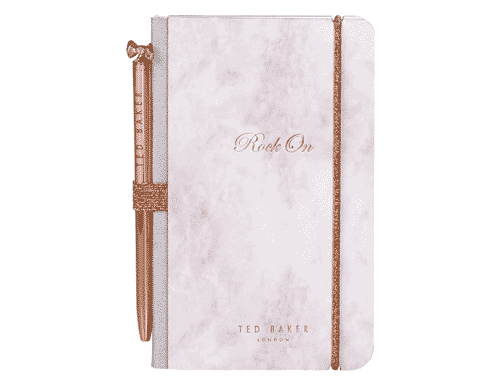 Ted Baker London Mini Notebook & Pen Rose Quartz