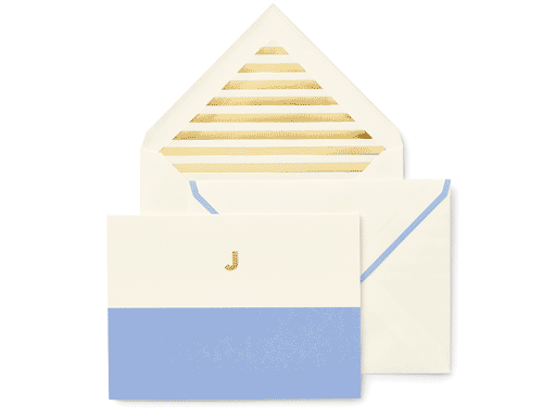 Kate Spade New York Dipped Initial Foldover Notes, J