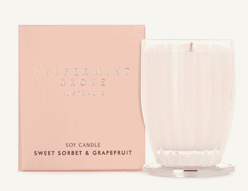 Peppermint Grove Sweet Sorbet and Grapefruit Candle 200g