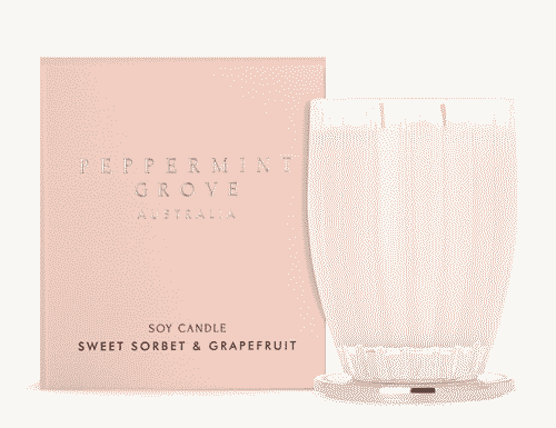 Peppermint Grove Sweet Sorbet and Grapefruit Candle 350g