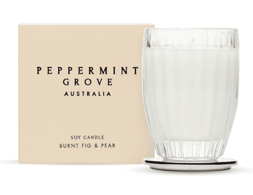 Peppermint Grove Burnt Fig & Pear Candle 200g