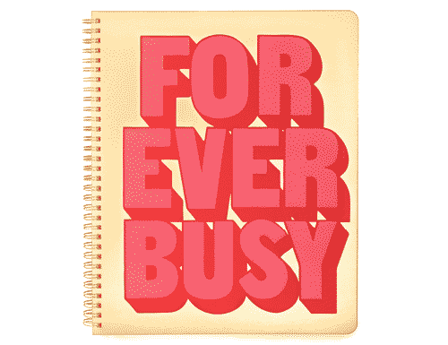 ban.do Rough Draft Large Notebook - Forever Busy