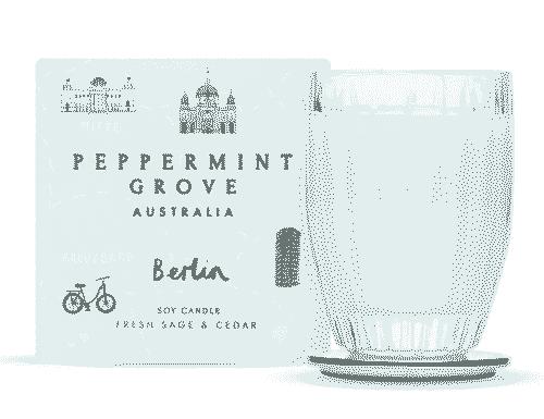 Peppermint Grove Berlin - Fresh Sage & Cedar Candle 60g
