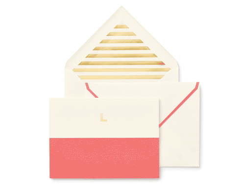 Kate Spade New York Dipped Initial Foldover Notes, L