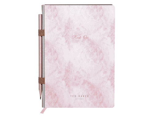 Ted Baker London A5 Notebook in Rose Quartz with pencil