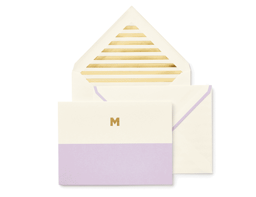 Kate Spade New York Dipped Initial Foldover Notes, M