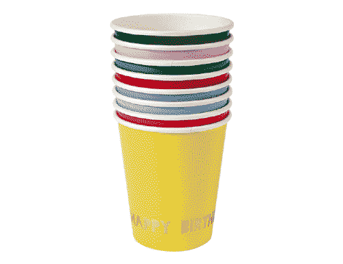 Colorful Birthday Party Cups