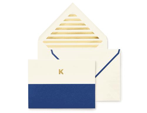 Kate Spade New York Dipped Initial Foldover Notes, K