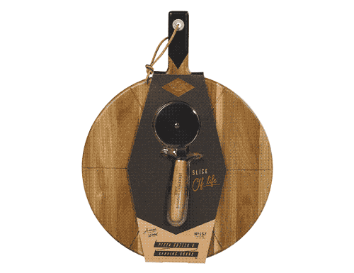 Gentlemen's Hardware Pizza Cutter & Serving Board 15