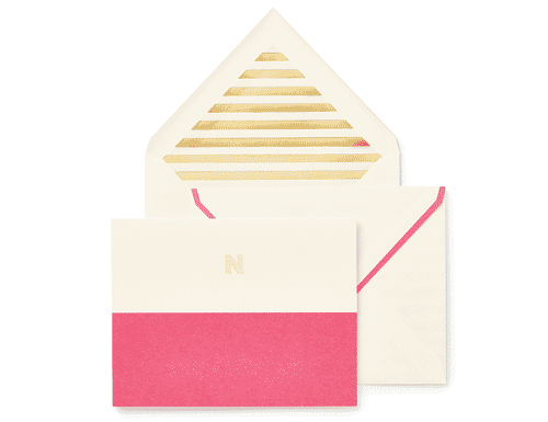 Kate Spade New York Dipped Initial Foldover Notes, N