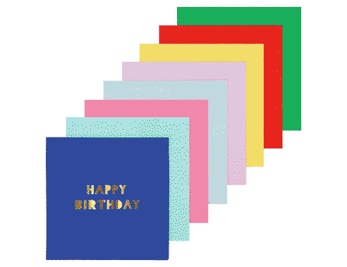 Happy Birthday Napkins - Small