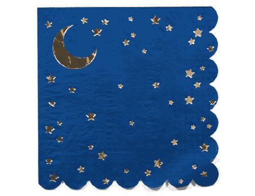Stars & Moon Napkin - Blue