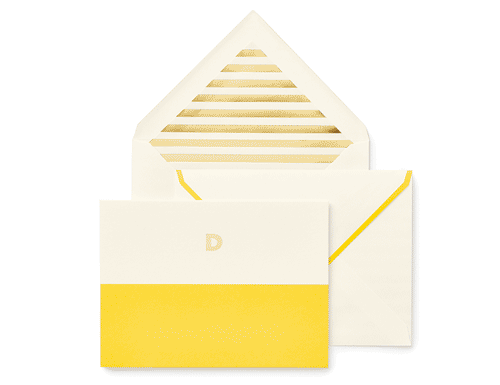 Kate Spade New York Dipped Initial Foldover Notes, D