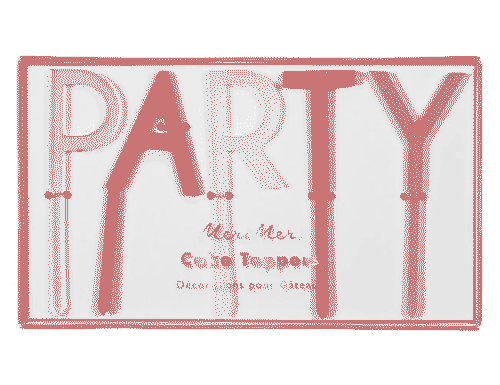 Pink 'Party' Acrylic Toppers