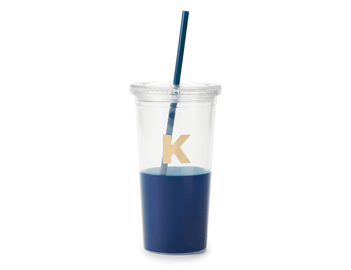 Kate Spade New York Dipped Initial Collection - Insulated Tumbler K