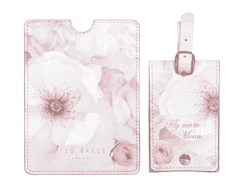 Ted Baker London Luggage Tag & Passport Set Chelsea Border