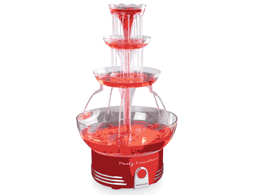 Nostalgia Retro Red Deluxe Lighted Party Fountain