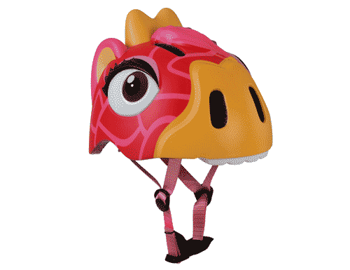 Crazy Safety Red Giraffe Helmet