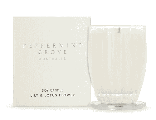 Peppermint Grove Lily & Lotus Flower Candle 200g