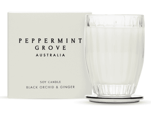 Peppermint Grove Black Orchid & Ginger Candle 200g