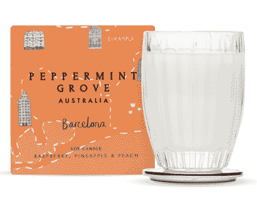Peppermint Grove Barcelona - Raspberry, Pineapple & Peach Candle 60g