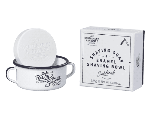 Gentlemen's Hardware Shaving Soap & Enamel Shaving Bowl