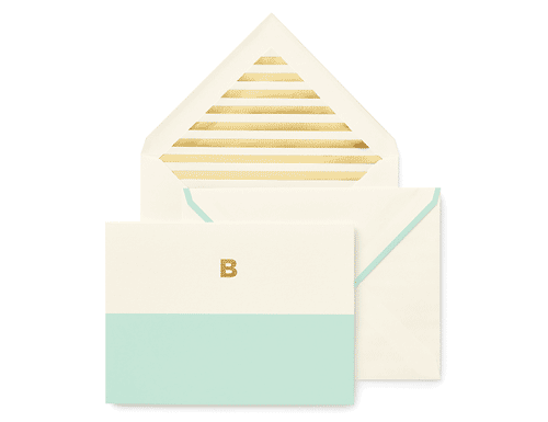 Kate Spade New York Dipped Initial Foldover Notes, B