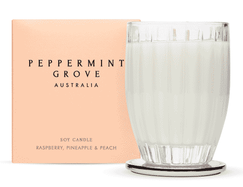 Peppermint Grove Raspberry, Pineapple & Peach Candle 350g