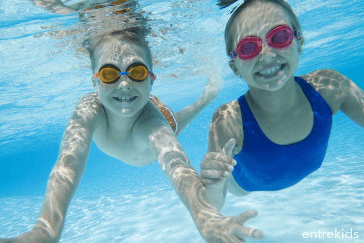 Natación para los escolares en piscina Acuavida Vitacura