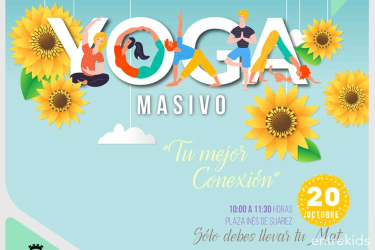 Yoga masivo, Plaza Inés de Suárez