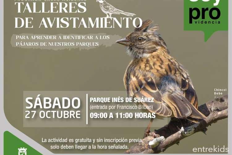 Taller de Avistamiento de aves, Parque Inés de Suarez