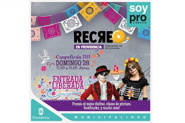 Disfrazarte y participa de RECREO en Providencia