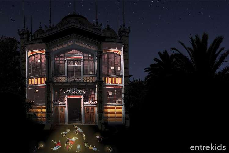 Museos de Medianoche! luces y juegos