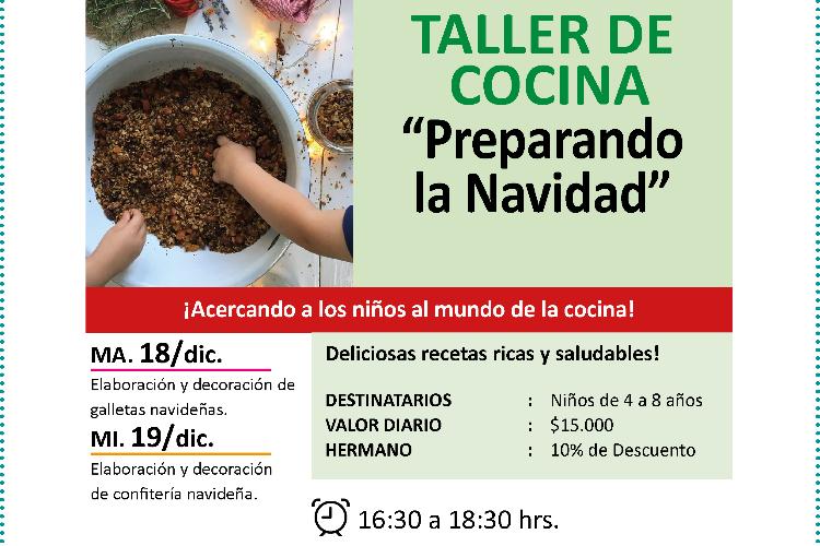 Taller de Cocina Navideña (Valor por sesión: $15.000)