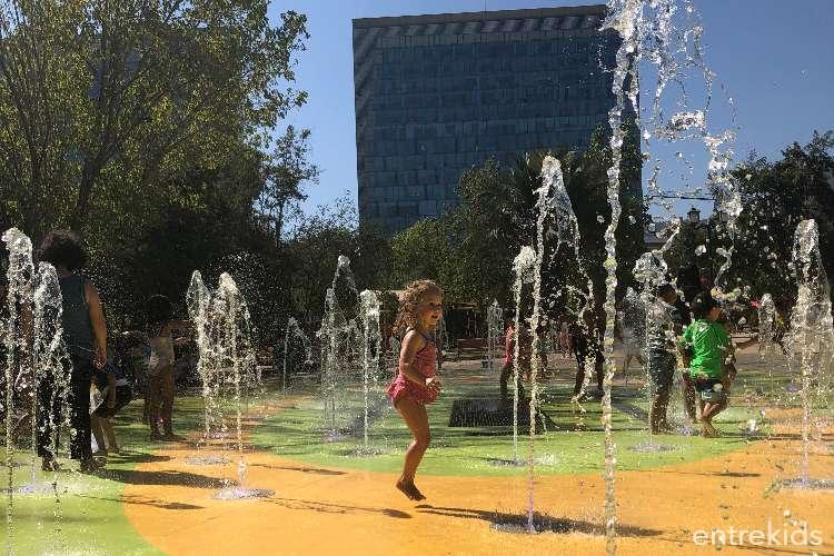 Aguas Danzantes en el Parque Araucano