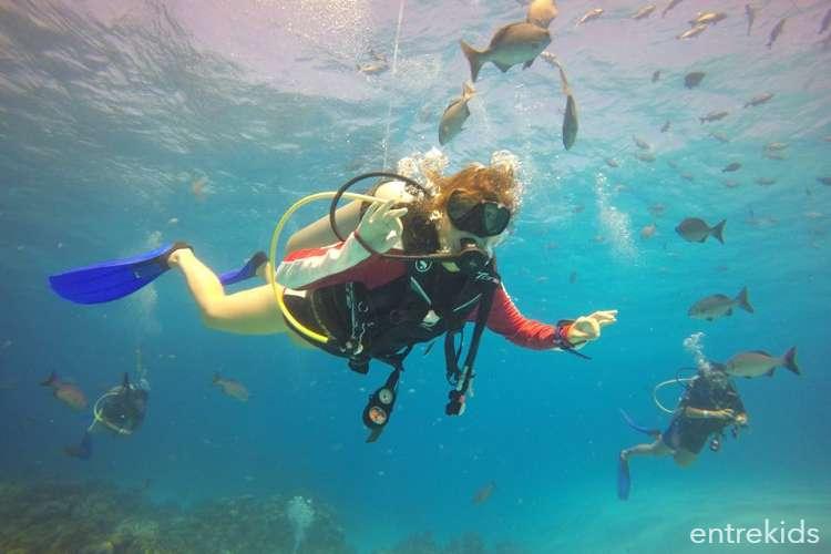 Bautismo de buceo en el mar con Aquasport