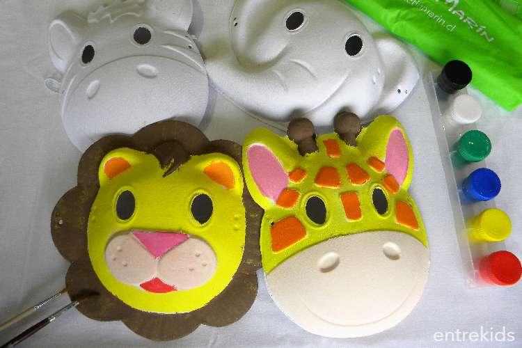 ¡Haz una máscara de animales junto a tus amigos con De Tín Marín!