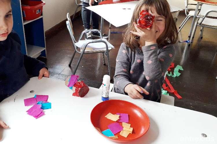 Arte en reciclaje en Talleres Rayün