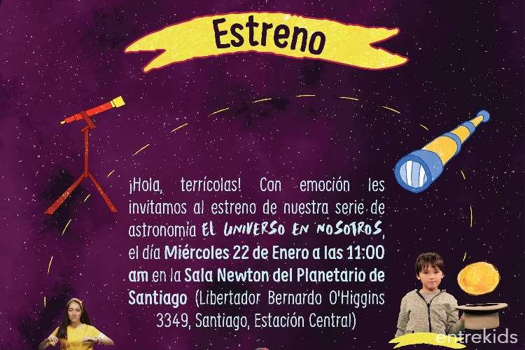 """""""El Universo en Nosotros"""" en el Planetario de Santiago"""