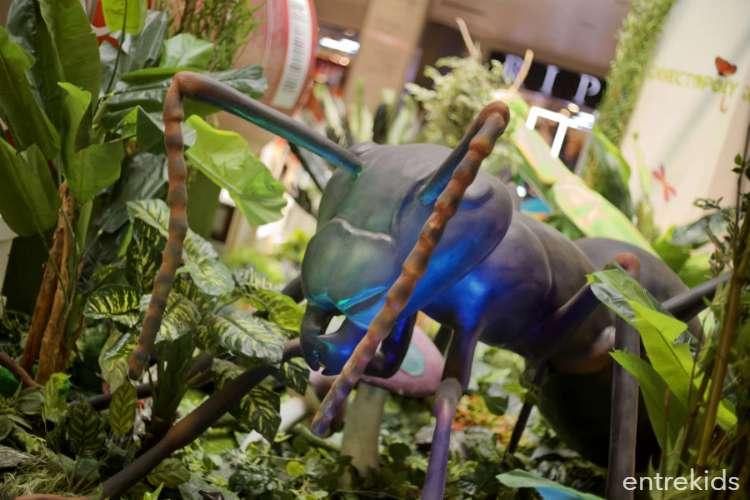 Insectopoly, la muestra de insectos gigantes animados en Parque Arauco