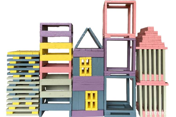 Woodis Arquitecto de Colores 150 Pzs