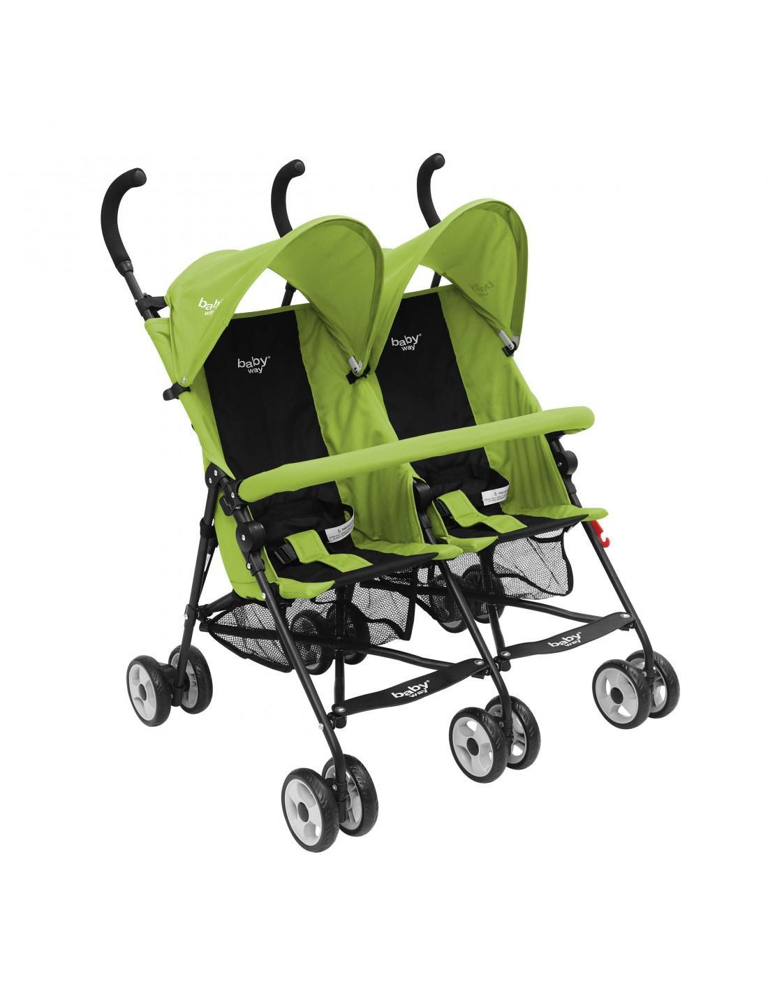 Coche Paragua Doble Baby Way Verde