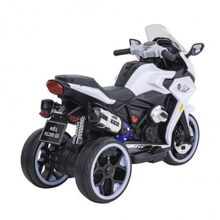 Moto De Carrera A Batería Musical Baby Way Blanco