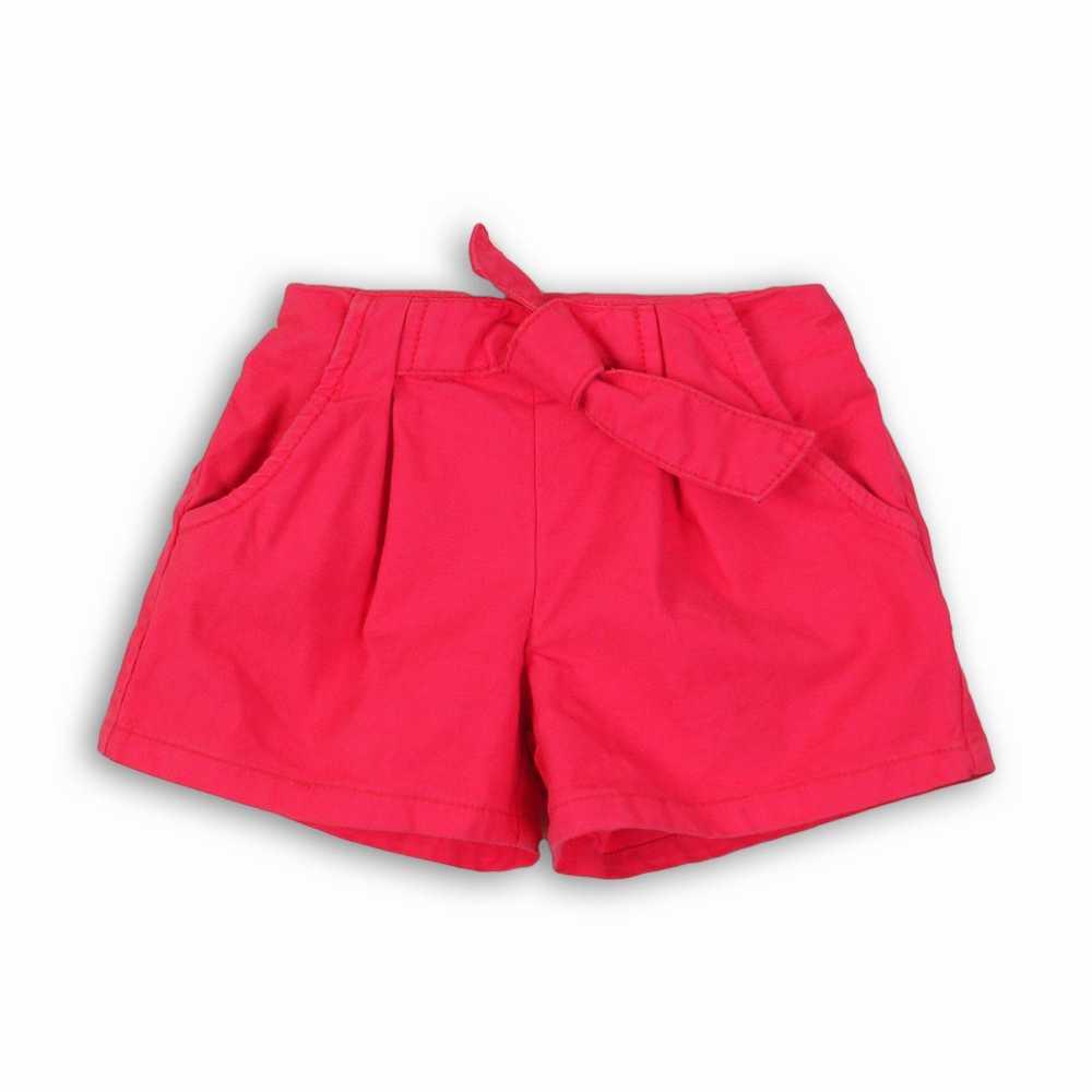 Pantalón corto tejido con cinturilla medio elástica y corbata de tela