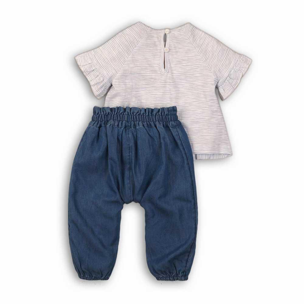 Pantalon de harén de chambray y top