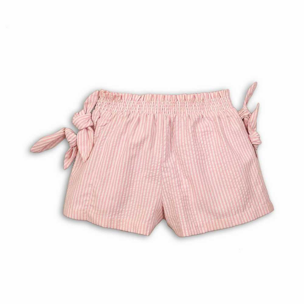 Pantalón corto de seda con cinturilla elástica