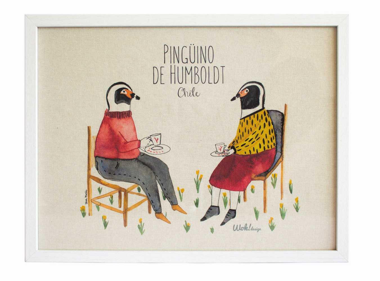 Cuadro 30 x 40 Pinguino